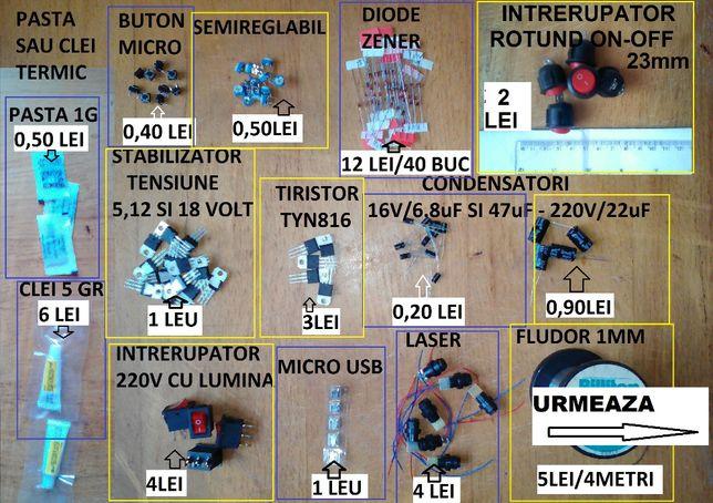 Tranzistori,diode,lasere,tiristori,regulatoare tensiune,microUSB,etc