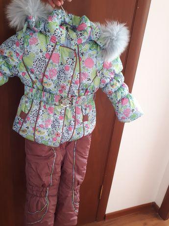 Детская зимняя куртка комбинезон и жилет(тройка)