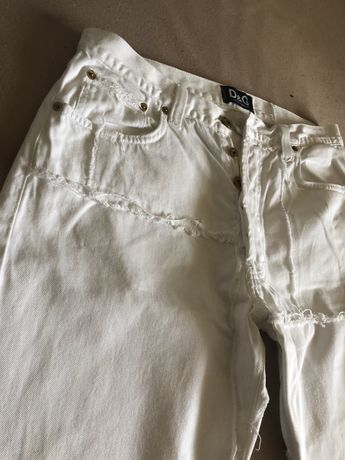 Blugi Dolce&Gabbana White | Barbati