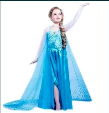 Костюм Елза ,костюм замръзналото кралство , рокля Елза