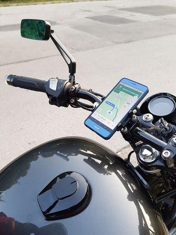 Стойка за телефон на Mотор, ATW, алуминиева, черна, червена, сива