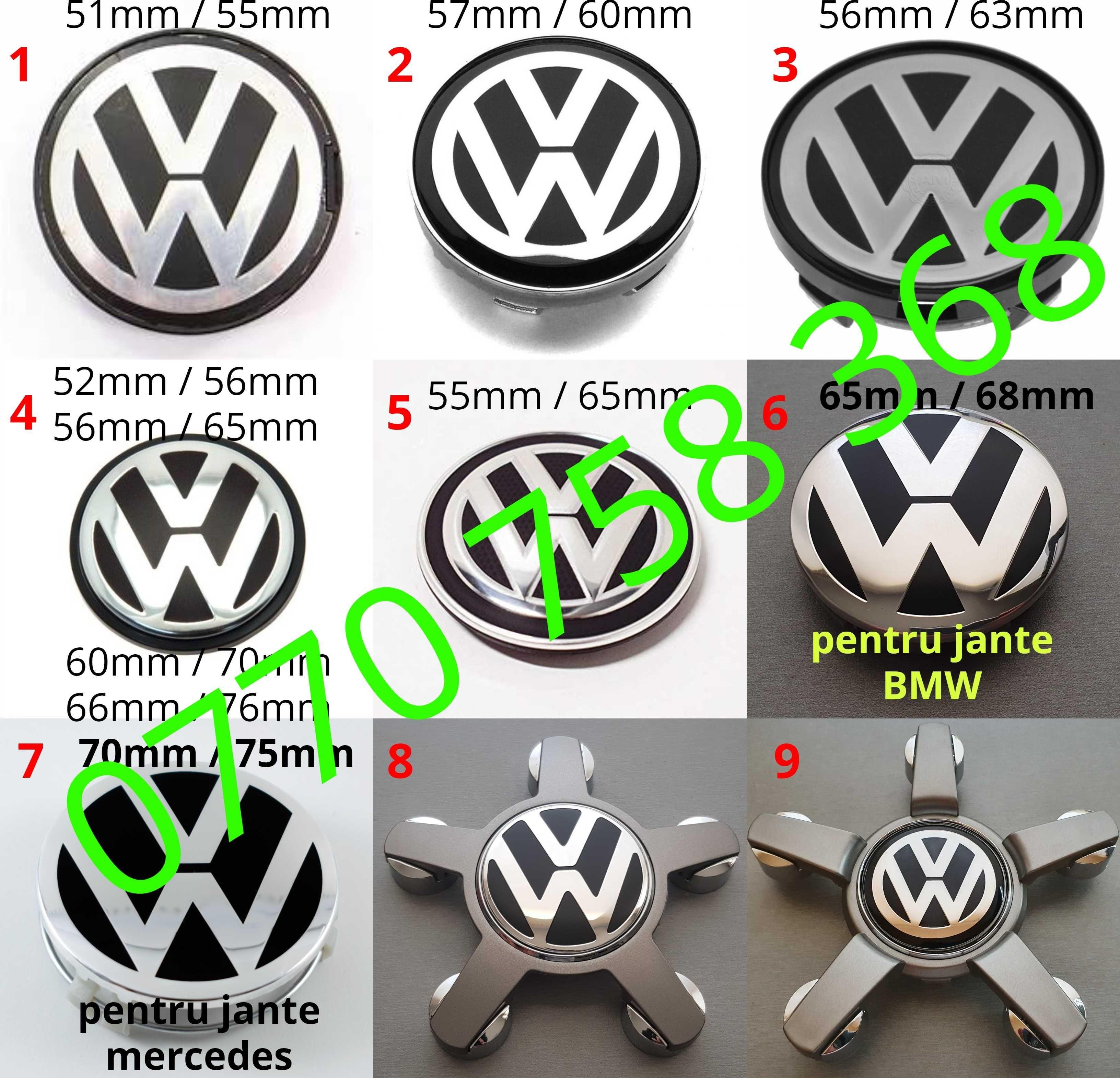 Capace roti jante aliaj Volkswagen VW Passat Golf Jetta Arteon Touareg