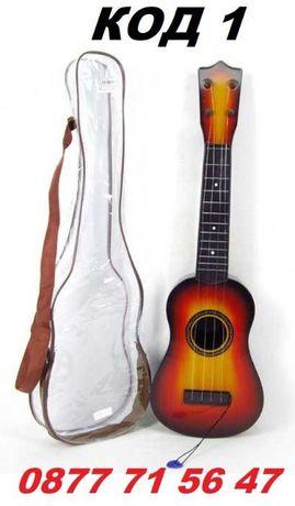Детска китара с калъф 55см, 59см акустична китари със струни 2 модела