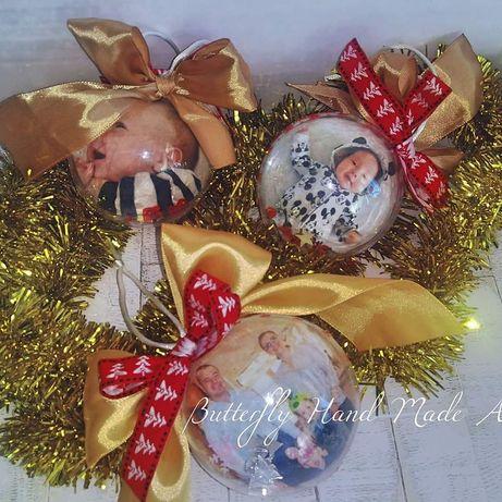 Коледни топки със снимка, Магнити със снимка, Перфектният подарък!