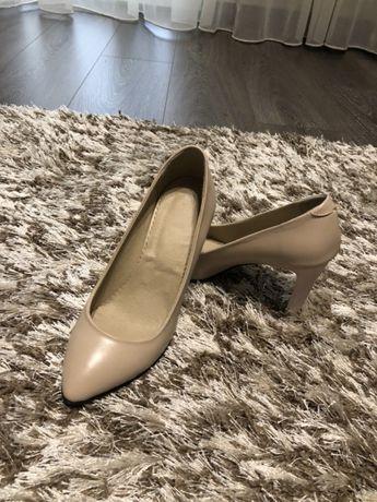 Pantofi nude piele!