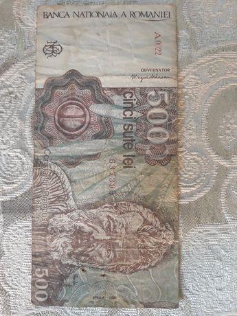 Bancnote de 500 lei cu chipul lui Constantin Brâncuși
