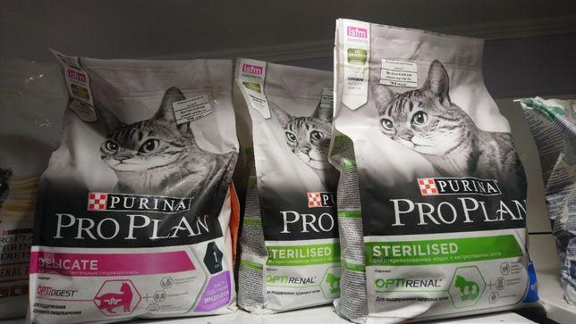 Сухой корм проплан PROPLAN для кошек 3 кг.