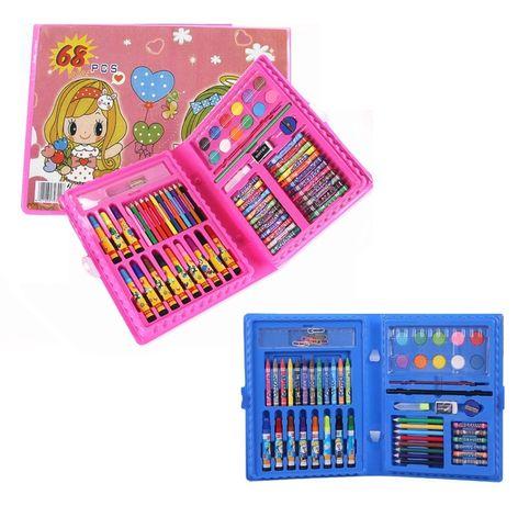 Комплект за рисуване и оцветяване в куфарче - 68 части
