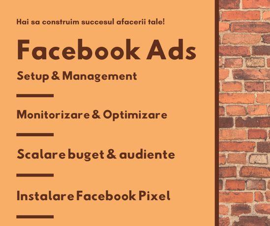 Promovare & Marketing: Facebook Ads + Administrare Social Media