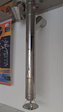 Cos de fum din inox izolat , diam 160/220, h=5m