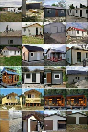 Case modulare locuibile pe structura metalica și panou sandwich
