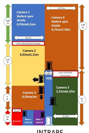 140 mp  pretabil productie, servicii, cabinete, sala sport , birouri