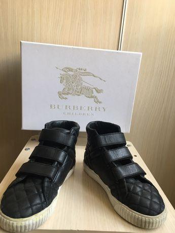 Детски кожени обувки BURBERRY