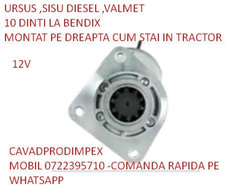 Electromotor nou tractor Ursus ,Valmet,Sisu diesel 10dinti bendix