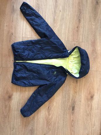 Куртка плащовка двух сторонняя синяя и салатная рост 130