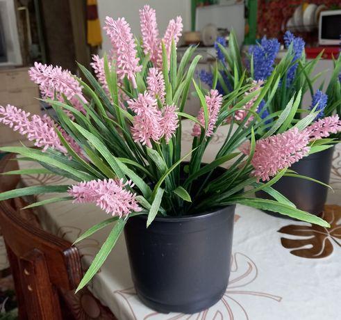 Декор, цветы искусственные вгоршках