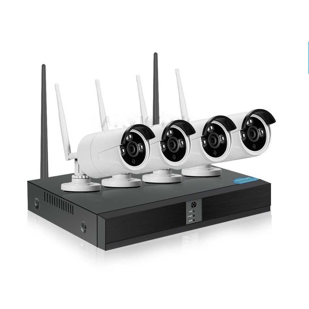 Видеонаблюдение с 4 Камери Wi-Fi и NVR