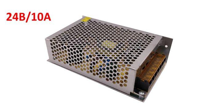 Блок питания в перфорированном металлическом корпусе 24В/10А