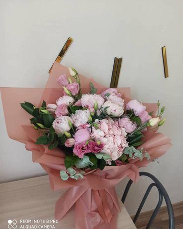 Букет с пиона цветы Алматы