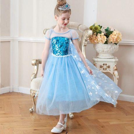 Rochie/Rochita NOUA printesa Elsa cu trena 4,5,6 ani