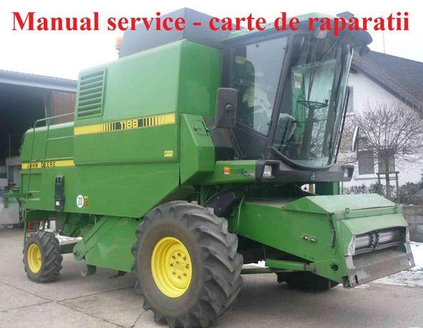 Manual service John Deere 1166 1169H 1174 1177H 1188 Hydro4 combina