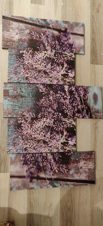 Set 5 tablouri liliac