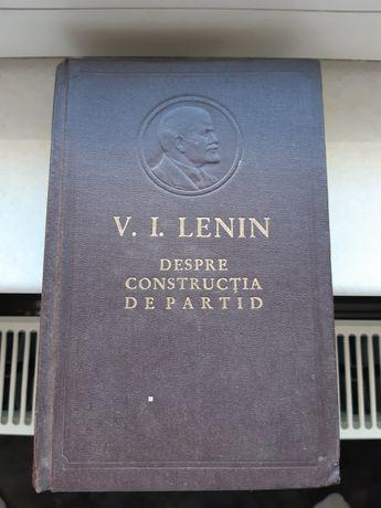 Carte rara Lenin - Despre Constructia de Partid