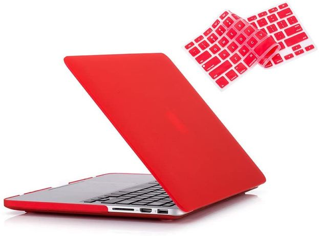 Carcasa Protectie Case Geanta Macbook Air 13'' A1466 A1369 rosu rosie