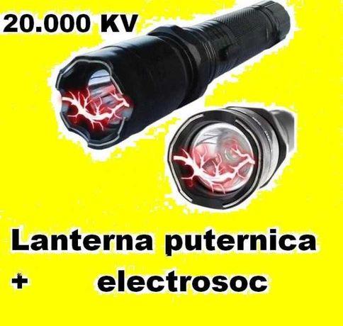 Lanterna cu Electrosoc 20.000 KV led POLICE metal