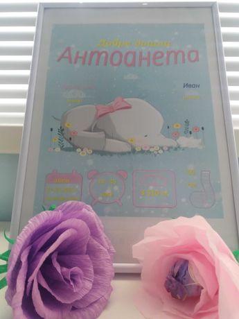 Бебешка визитка за новородени
