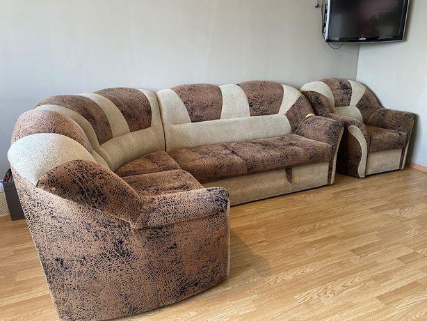 Продам мягкий уголок, диван складной, кресло