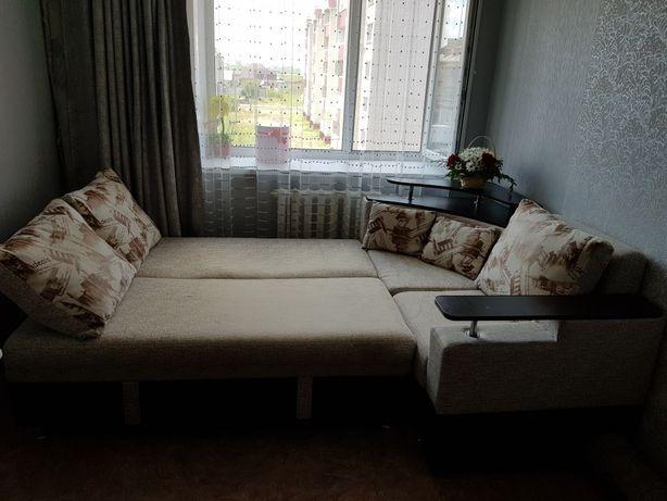 Продам диван + кресло кровать + пуф
