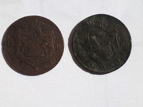 Monede ,2 bani 1882 si 1900