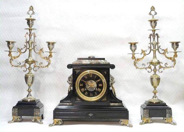 Френски каминен часовник в стил Ампир!