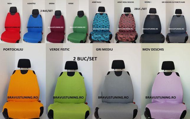 Huse auto tip maieu bumbac 2 buc/set diverse culori
