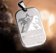 Dog Tag (DogTag) Starcraft Terran, Zerg Titanium, Wings of Liberty