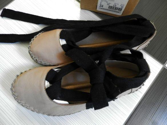 обувки ZARA, естествена кожа, №34