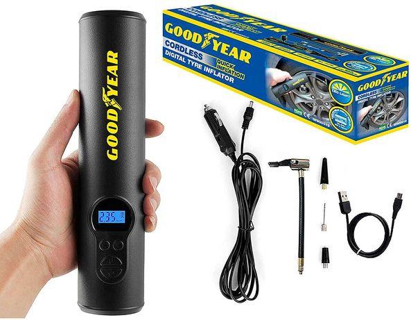 Mini compresor auto de aer, digital cu acumulator, Goodyear