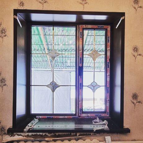 Пластиковые и алюминиевые окна двери балконы лоджии