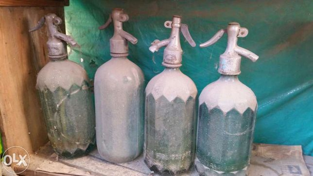 Sifon din sticla vintage