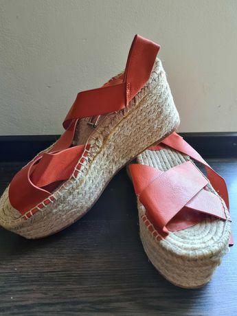 Sandale cu platformă, marimea 38, Pull&Bear