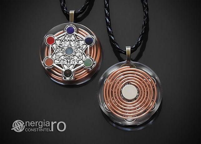 Pandantiv Orgonic, Orgon Magnetic Cubul lui Metatron - cod ORG018