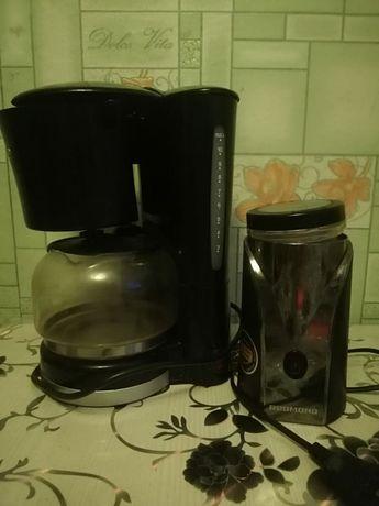 Продам кофеварка + измельчитель зерна кофе
