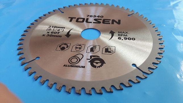 Disc circular TCT (210mm/ax 30mm/60dinti) TOLSEN pentru ALUMINIU !!!