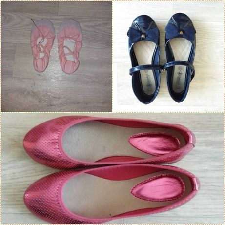 туфли для девочки, балетки для танцев и гимнастики