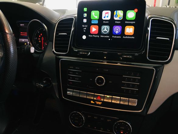 Mercedes Apple CarPlay Android Auto Video in Motion AMG Codin Cluster