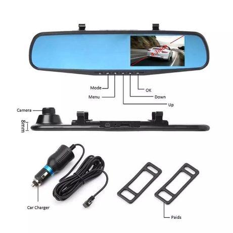 Видеорегистратор зеркало с камерой с задним видом 2 в 1