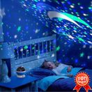 Уникална детска звездна нощна лампа лед украса подарък дете бебе