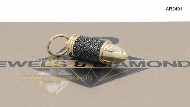 Pandantiv  Aur 14 K tip Glont Bullet model deosebit ARJEWELS(AR2491)
