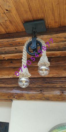 Corp iluminat/ pendul/ lustra handmade rustic